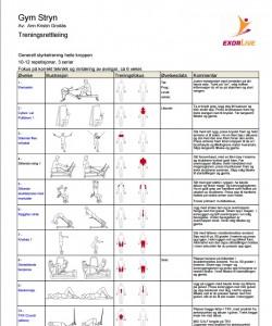 ExorLive treningsprogram