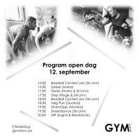 Open dag, onsdag 12. september