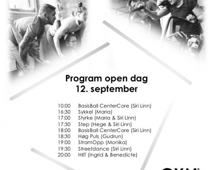 Open dag, onsdag 12. september